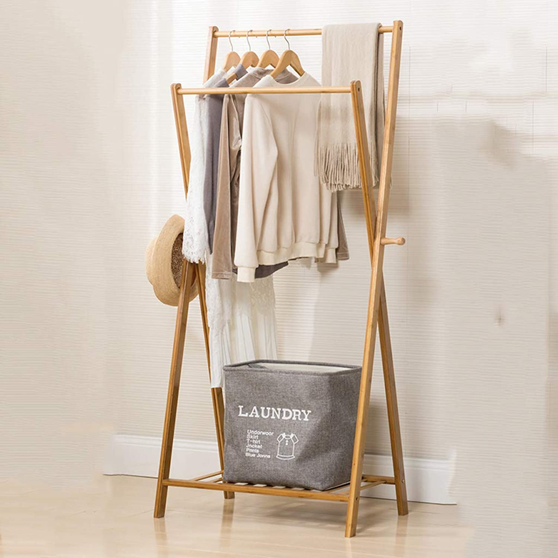 Best Coat Stand- Wooden Coat Rack Floor-Standing Clothes Stand Modern Bedroom Living Room Parallel Bars Hanger -Home Decor (Size   70  43  155cm)