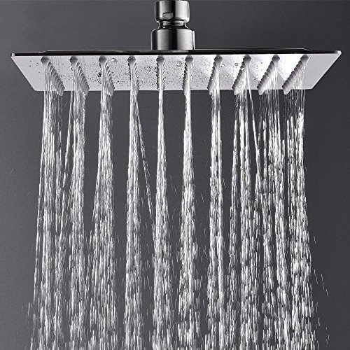 VAPSINT 8 Inch High Pressure Square Rainfall Retail Over-Head Wall Mount for Lavatory Bathroom Shower Head,Rain Lavatory Tub Lavatory Shower Head