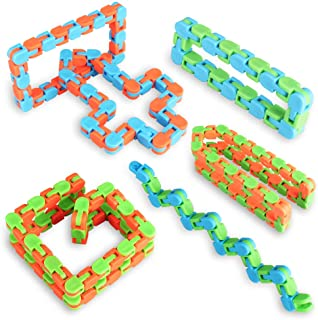 Ganowo 6PCS Fidget Sensory Toys Snake Cube Magic Twist Puzzle Games Bulk Toys Classroom Rewards Birthday Party Favors Christmas Stocking Stuffers Goodie Bags Fillers for Kids Adults Teens