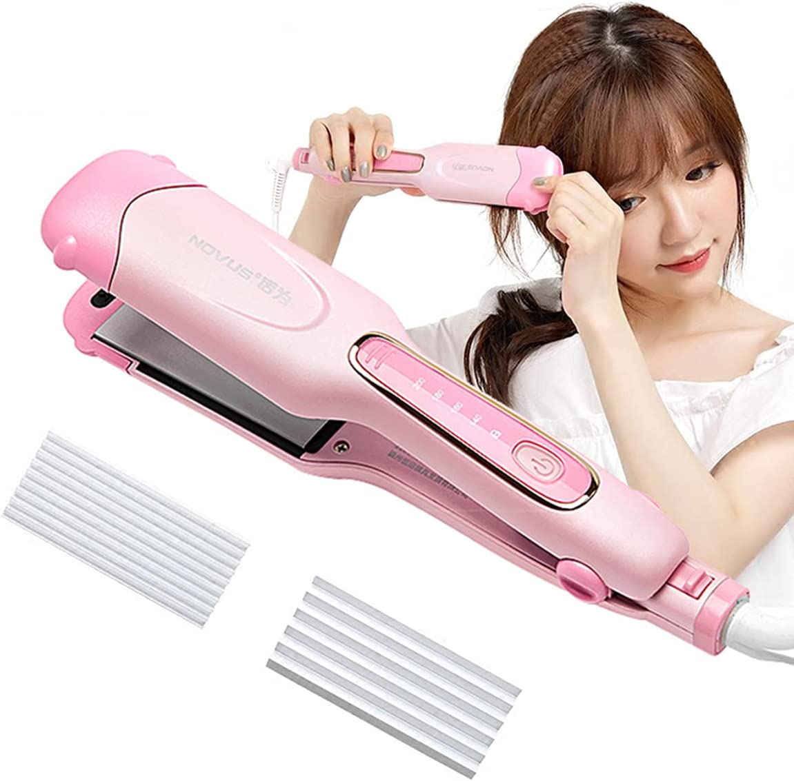 3 Our shop most popular in 1 Multifunction Store Hair Crim Corrugated Iron Straightener
