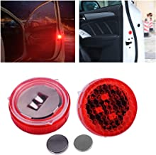 1 Pair Car Door Step Strobe Warning Red LED Flash Light Anti Collision Wireless Opened Lamp Flashing Kit Decorations