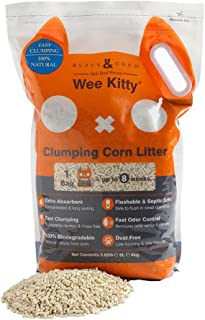 Rufus & Coco Wee Kitty Natural Cat Litter Clumping low tracking Pellets Corn 8.8Lbs