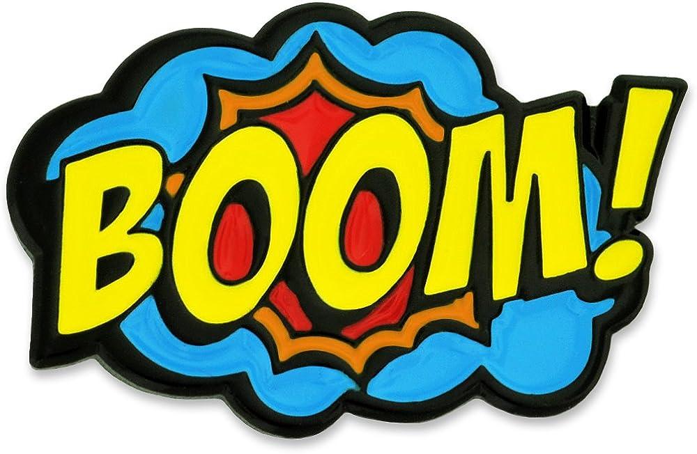PinMart Boom Comic Animer and price revision Book Art cheap Enamel Lapel Pin