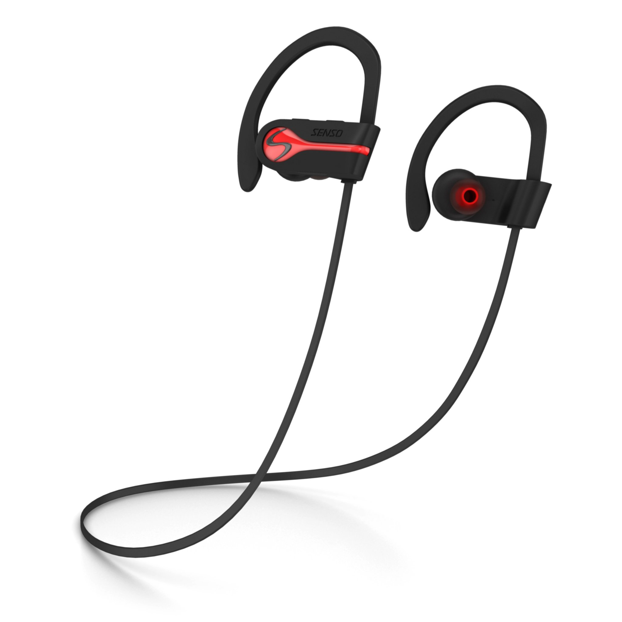Amazon Com Senso Bluetooth Wireless Headphones Best Sports Earphones W Mic Ipx7 Waterproof Hd Stereo Sweatproof Earbuds For Gym Running Workout 8 Hour Battery Noise Cancelling Headsets Hifi Cordless Headphones Electronics