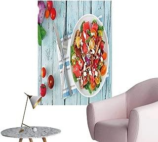SeptSonne Wall Art Prints Watermelon mixe Tomato sala feta Cheese overhea Scene for Living Room Ready to Stick on Wall,20