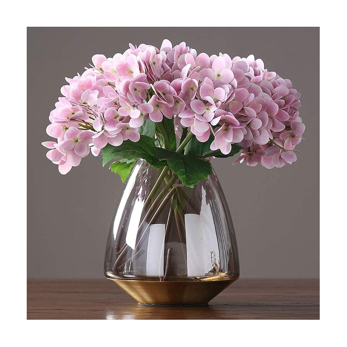 どこにも土器かろうじて現代のミニマリストの透明な光ラグジュアリーガラスの花瓶、デコレーションクリエイティブホームレストラン浄水場の花 (Size : B)