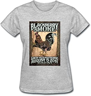 ZHENGXING Women's BlackBerry Smoke Rock Band Tire Angel Short Sleeve T-Shirt XXL ColorName