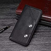 MY CASE for Doogee Y6 Max Case, Genuine Quality Business Retro Style Flip PU Leather Wallet Case Cover (Color : Black)