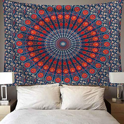 ZSYNB Wandtapijt, hippie/sorcellerie/mandala, wandtapijt, pichedelisch, boho, wandtapijt, voor woonkamer, slaapzaal, decoratie, strand, deken, camping, tent, reis, yogamat No frame 150 X 150cm