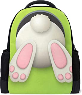 Backpack Happy Easter Cute Rabbit Floral Flowers Eggs Personalized Shoulders Bag Classic Lightweight Daypack for Men/Women/Students School