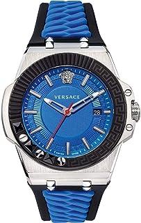 Versace Homme Analogique Quartz Montre avec Bracelet en Caoutchouc VEDY00119