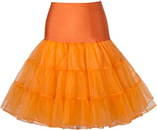 "BOOLAVARD 50's 1950 26"" Rockabilly Petticoat Sottogonna Gonna Retro Annata Altalena Rosso, Nero, Bianco, Blu, Rosa"