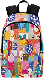 Christmas Casual Daypack Travel Bag College School Backpack for Mens and Women