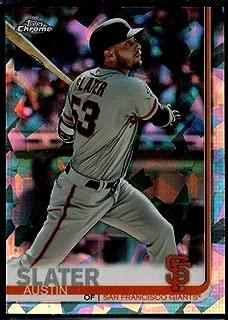 Baseball MLB 2019 Topps Chrome Sapphire Edition #594 Austin Slater Giants