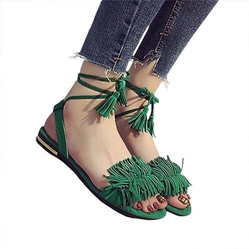 3a37ad171 Fringe Flat Sandals  Amazon.com