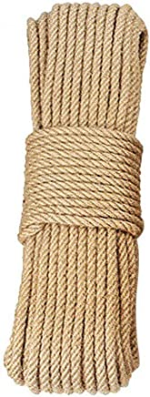 Gardening,tug of war Rope. Dock Tree Hanging Swing Decorative Landscaping zhitao 100/% Natural Jute Rope Twisted Hemp Rope Brown Natural Rope 50 ft 1 inch Climbing for Craft