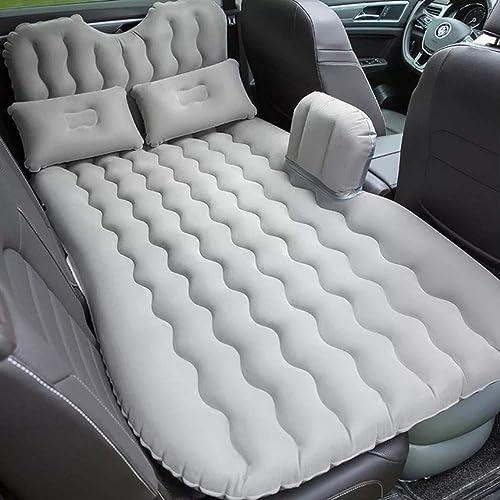 Rioneon Air Bed2019 Haute Qualité Meilleure Vente De Voiture Arrière Seat Cover Voyage Matelas Air Lit Gonflable avec Pompe 90 135cm gris Clair