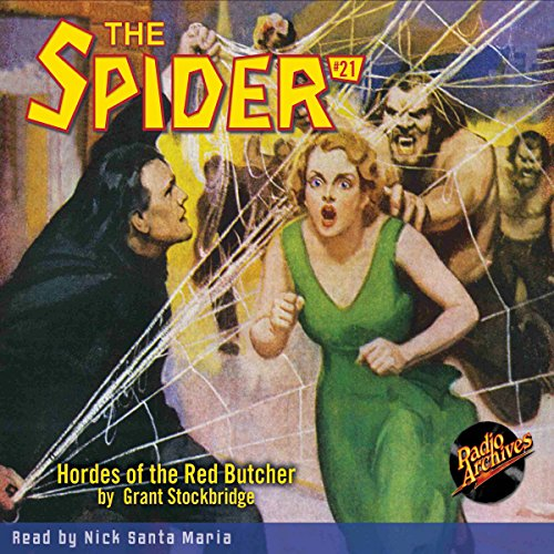 Spider #21 June 1935 audiobook cover art