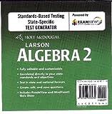 Holt McDougal Larson Algebra 2: ExamView Test Generator CD-ROM