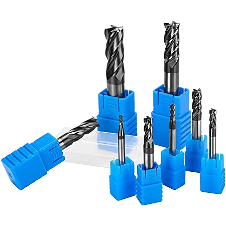 10mmDia/×10mmShank/×150mmOAL Wokesi 10mm Cutting Diameter,10mm Shank Diameter,150mm Overall length,Extra Long,HRC55,4 Flutes,TiAlN Coated,Solid Carbide,Square End Mill CNC Router Bits