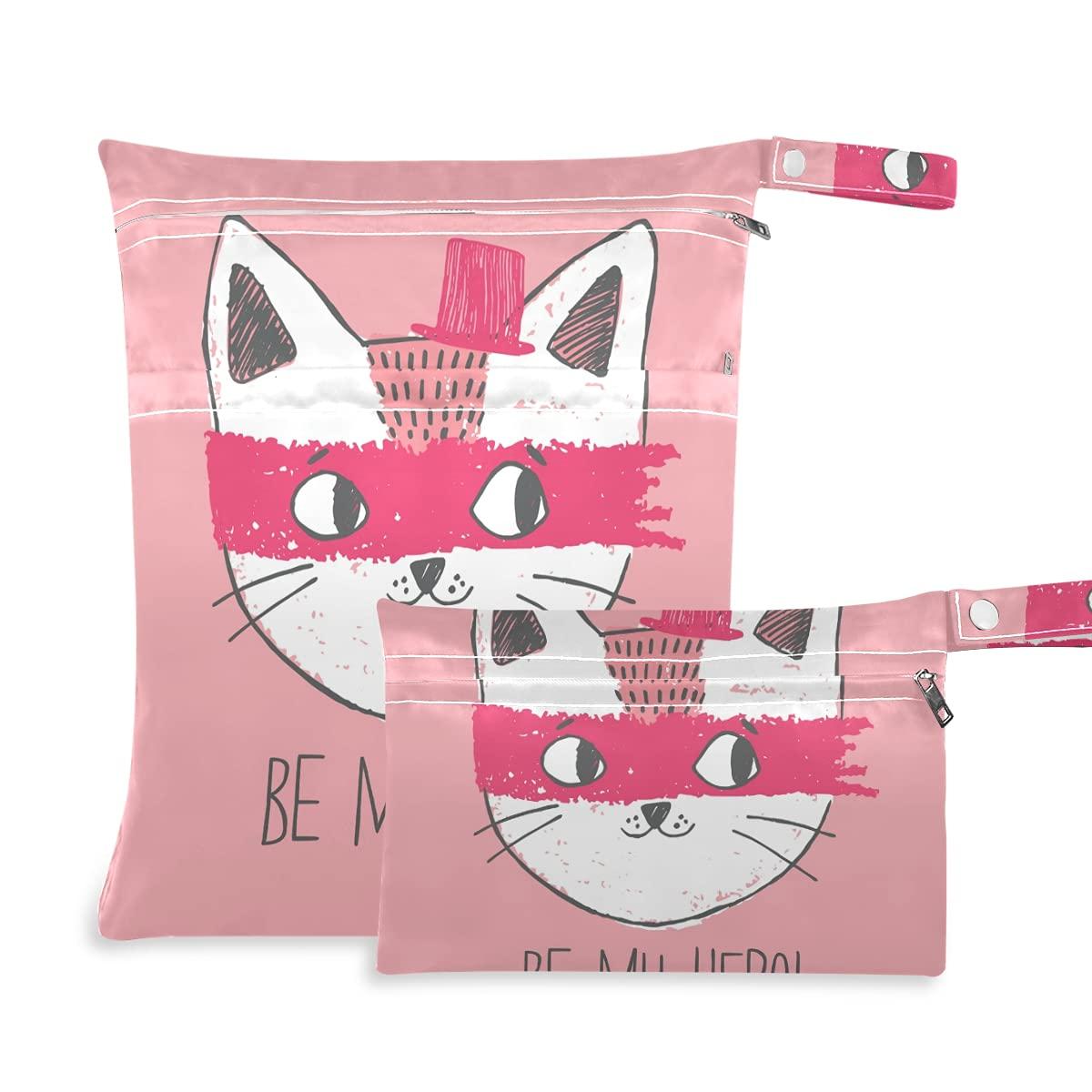 Cartoon Cat Wet Dry Bag Diaper Wa Reusable for Swimsuits 5 popular shop