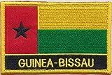 Guinea-Bissau-Flagge Aufbügler Patch, gestickt, zum Aufnähen oder Aufbügeln, exklusives Design von 1000 Flaggen