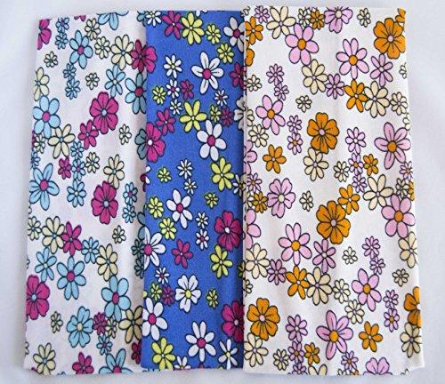 Lot de 3 bandes de fleurs de 9 cm de large. Livraison GRATUITE 72h