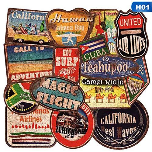 Pegatinas de estilo retro con diseño de graffiti para viajes, divertidas pegatinas Jdm para bricolaje en maleta, equipaje, portátil, bicicleta, monopatín, coche, 35 unidades