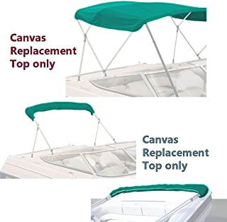 SavvyCraft 4 Bow Bimini Top Replacement Canvas Cover with Storage Boot Multi Color/Without Frame