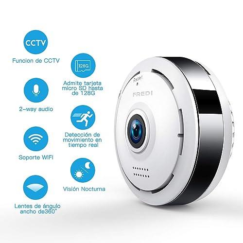 960P HD IP Wifi Cámara de Seguridad FREDI, Cámara de Vigilancia Panorámica de 360 grados