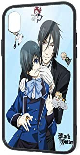 ChristineBermudez Black Butler Fashion iPhone XR Protective Cover,360 Full Body Protective Sleeve PC Soft Silicone + TPU Glass, Anti-Drop Shockproof Anti-Fingerprint Mobile Phone Case (6.1
