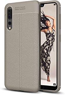 ESYI AYSMG For Huawei P20 Pro Litchi Texture Soft TPU Protective Back Cover Case(Black) (Color : Grey)