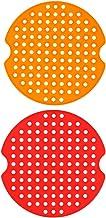 UPKOCH 2Pcs Liner de Silicone Reutilizável Air Fritadeira Fritadeira Ar Mat Pad Forro Perfurado Redonda Não- Stick Frigide...