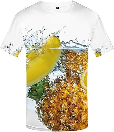 yyqx container Moda Manga Corta Tees Round Neck Top Camisa ...