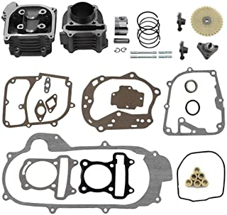 Trkimal Upgrade Big Bore 50mm Cylinder Rebuild Kit for GY6 50cc 139QMB Racing Scooter Parts 64mm Valve Scooter Moped ATV Go Karts