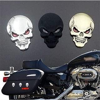 Cool Skull Skeleton Car/Motorcycle Decal Devil 3D Metal Sticker Emblem Badge