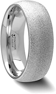 Thorsten LAUREEN Black Domed Shaped Ceramic Wedding Band Ring Womens Comfort Fit