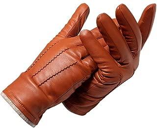 Genuine Leather Gloves Male Gloves Fashion Leather Vintage Driving Gloves Grade Gloves Winter (Color : Brown, Gloves Size : 46)