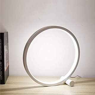 Halo Balance Lamp, 3 Dimmable Color Temperatures Circle Led Table Lamp, Modern Stylish Design USB Recharged Contemporary B...