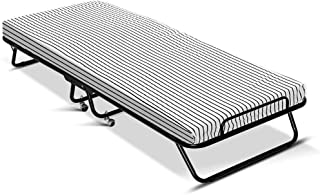 Artiss Portable Camping Bed Indoor/Outdoor Folding Bed with Mattress and Wheels