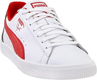 PUMA Men's Clyde Stripes Ankle-High Leather Sneaker