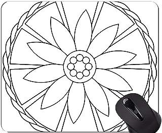 Non-Slip Rubber Gaming Mouse Pad,Mandala Statue Buddha Zen Mouse Pads