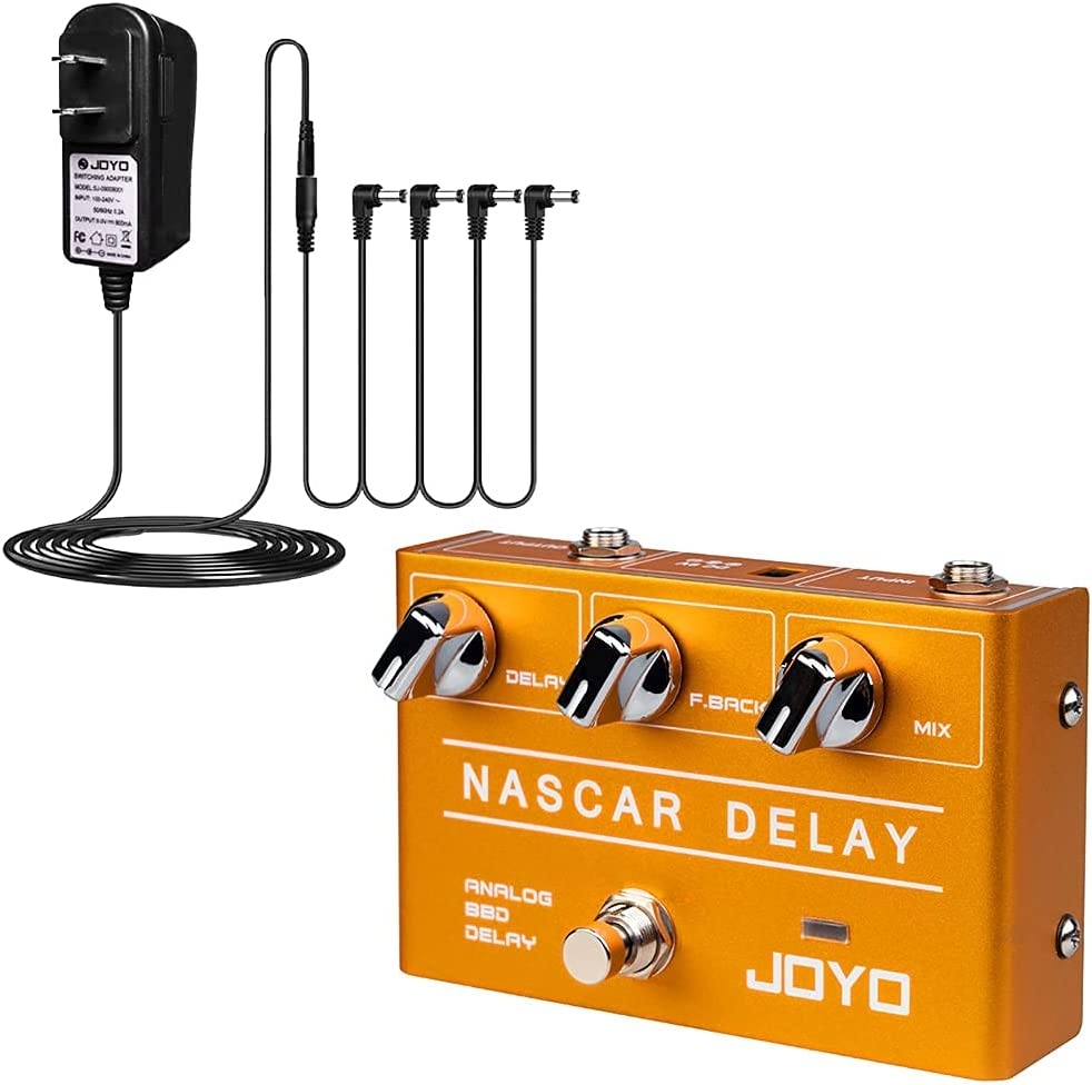 JOYO Nacar Analog Delay Effect Pedal 80 9V Be super welcome with DC Supply Power Mail order