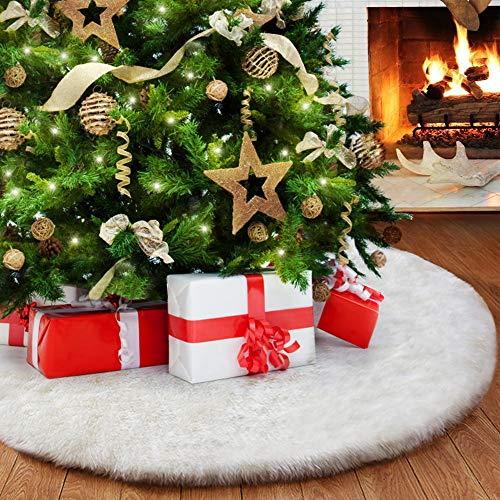 Jupe de Sapin de Noël, Peluche Arbre De Noel Decoration,...