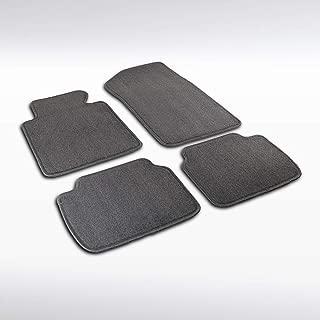 Autozensation For BMW E46 3-Series Grey Cotton Side Carpet Floor Mats 4 Pieces