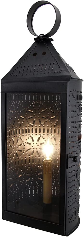 Zeckos Smoky Finish Popular products trust Glass Front Punched Harbor Tin Electric Tall