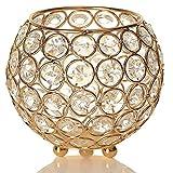 vincigant candeliere in cristallo oro ornamento per la casa del caffè camera da letto decorazioni natalizie/regalo di natale decorazione di nozze, diametro 12 cm