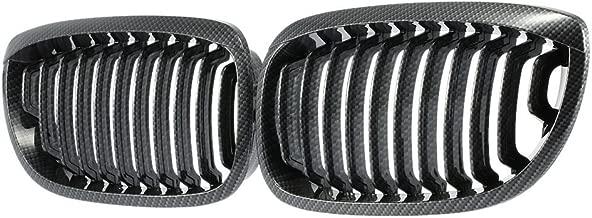 Carbon Fiber Black Front Kidney Center Grill Grille For BMW 3 Sries E46 2003-2005 2 doors