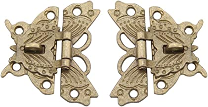 2 stks Vintage Ontwerp Legering Klink Retro Vlinder Vormige Decoratieve Klink Hasp Pad Lock voor Houten Sieraden Doos Kast