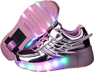 d81a3b205aae Kids Wheely Shoes Girls Boys LED Light up Heelys Roller Skate Sneakers Xmas  Gift